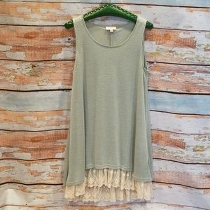 NWOT BARELY WORN UMGEE Mint Green Lace Dress M!